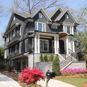 Typical Morningside Homes for sale - Street scene sunny day.