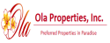 The logo of Ola Properties, Inc.